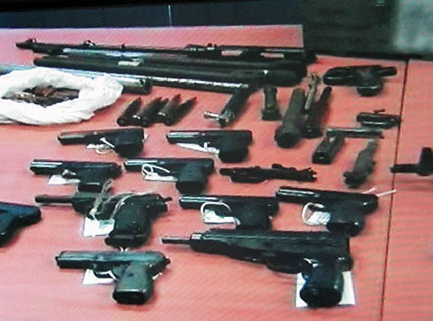 Przejęta broń i amunicja w dużej części pochodzi z okresu drugiej wojny światowej