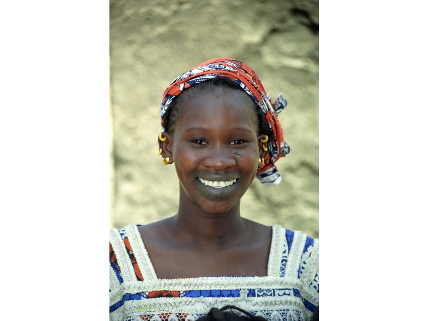 Kobieta z jednego z plemion malijskich