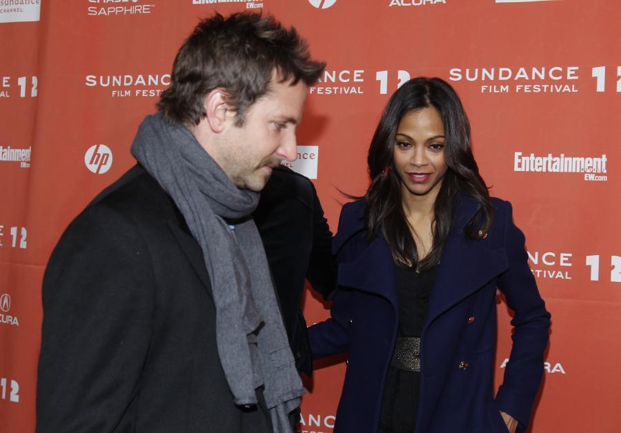 Zoe Saldana i Bradley Cooper