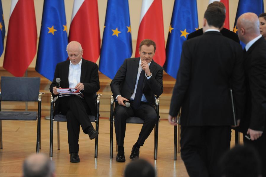 Minister Michał Boni i premier Donald Tusk