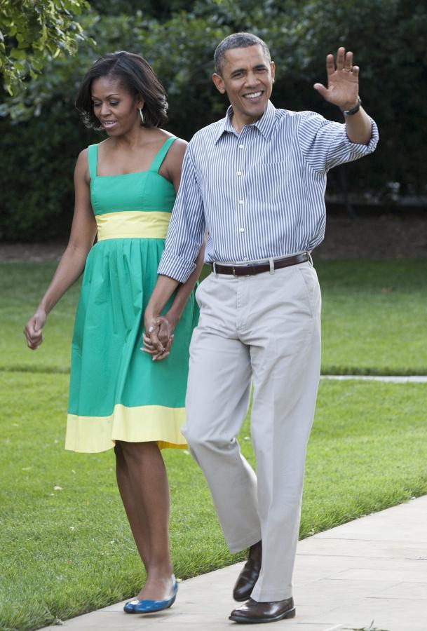 Barack i Michelle Obama wyletnieni