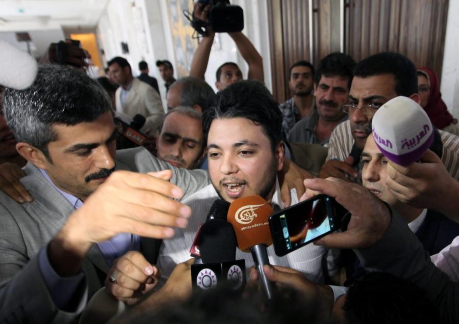 Konferencja prasowa syryjskiej opozycji w stolicy Egiptu Kairze