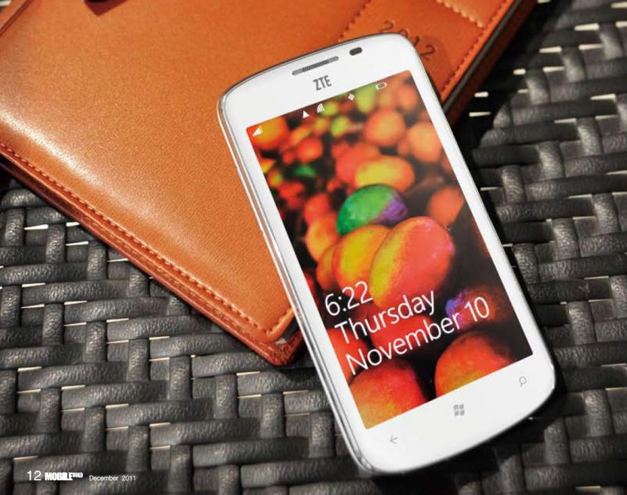 ZTE Tania, smartfon z Windows Phone