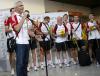 Powitanie polskich siatkarzy na warszwskim lotnisku Okęcie