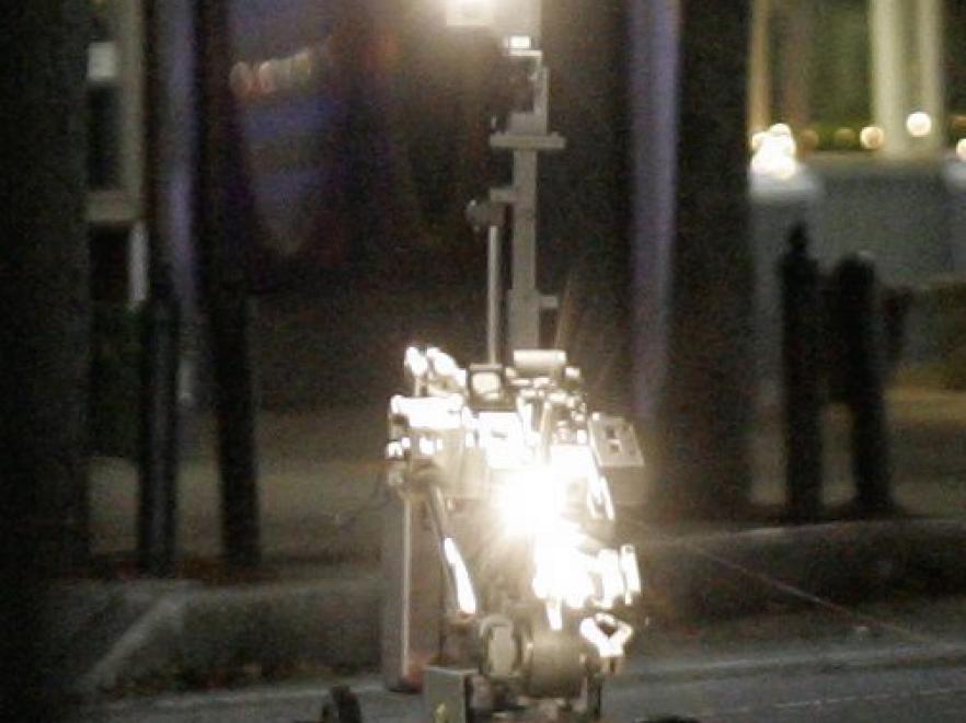 Pirotechnicy użyli w akcji robota