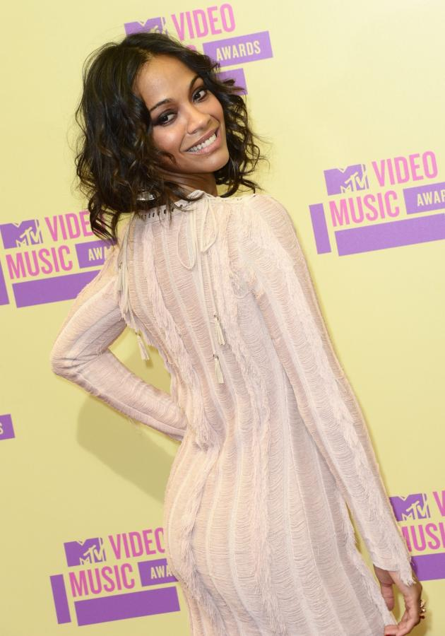 Zoe Saldana na MTV Video Music Awards 2012