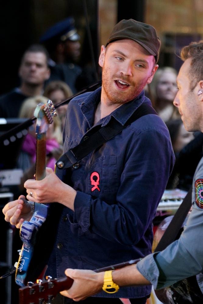 Coldplay podczas występu przed Rockefeller Plaza  – 21 października 2011