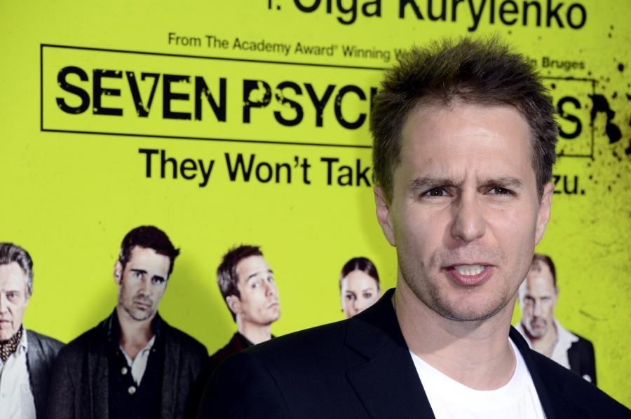 """Sam Rockwell na premierze """"Siedmiu psychopatów"""""""