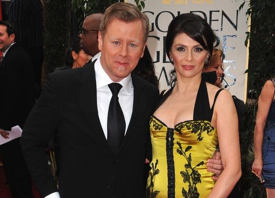 Abel Korzeniowski z żoną Miną na gali Złotych Globów 2012