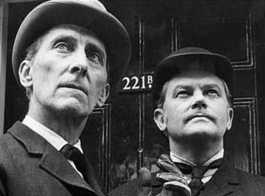 Peter Cushing jako Holmes