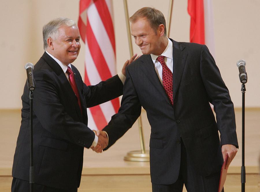 Znalezione obrazy dla zapytania tusk i kaczyński