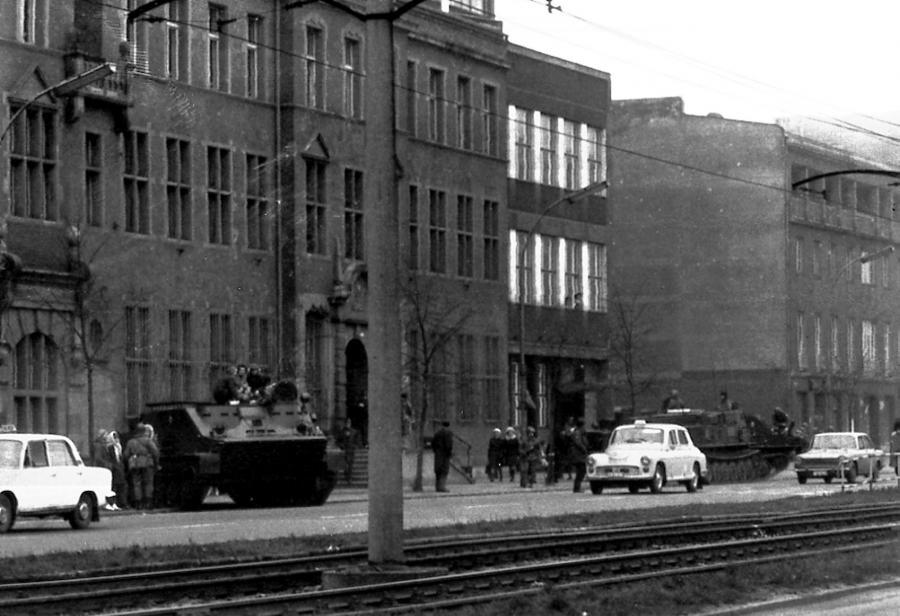 Czołg w Gdańsku, grudzień 1970