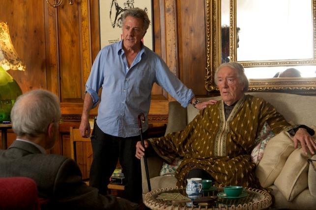 "Dustin Hoffman i Michael Gambon w filmie ""Kwartet"""