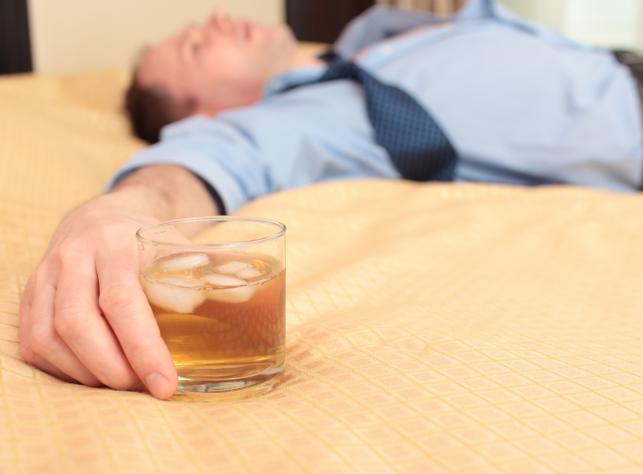 Pijany mężczyzna