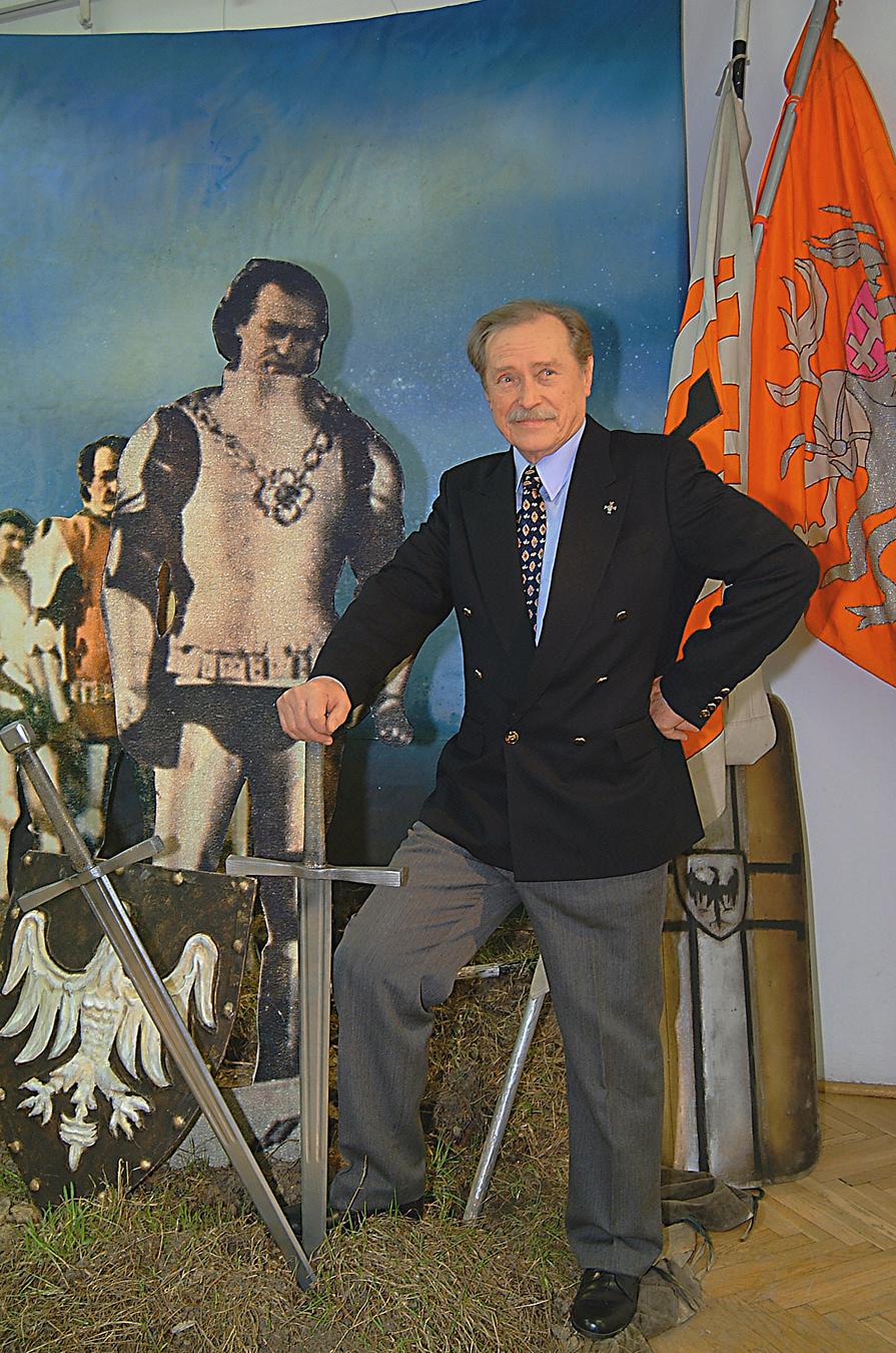Emil Karewicz na wystawie swoich prac – marzec 2003