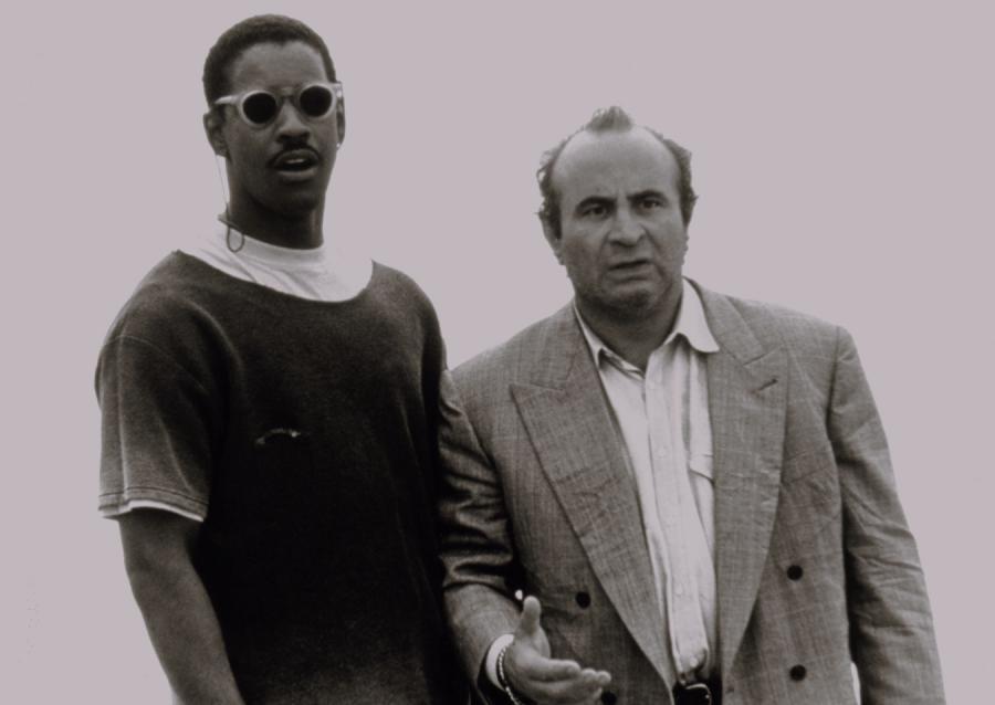 """Denzel Washington i Bob Hoskins w filmie """"Związek przeszczepionych serc"""" (1990)"""