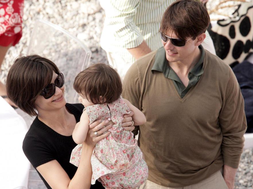 Katie Holmes , Suri Cruise i Tom Cruise
