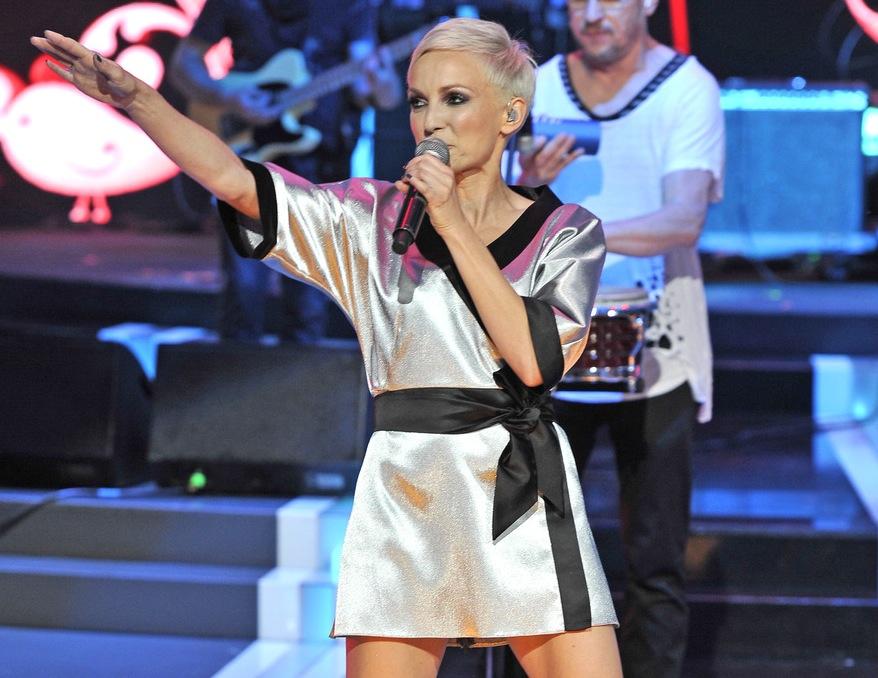 Anna Wyszkoni na festiwalu w Opolu