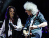 Alice Cooper i Brian May podczas koncertu The Sunflower Jam w Royal Albert Hall – październik 2012