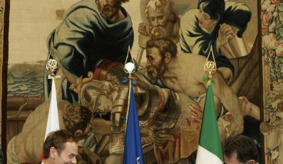 Przed spotkaniem z Papieżem, premier RP spotkał się z premierem Włoch