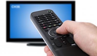Pilot od TV i ekran telewizora