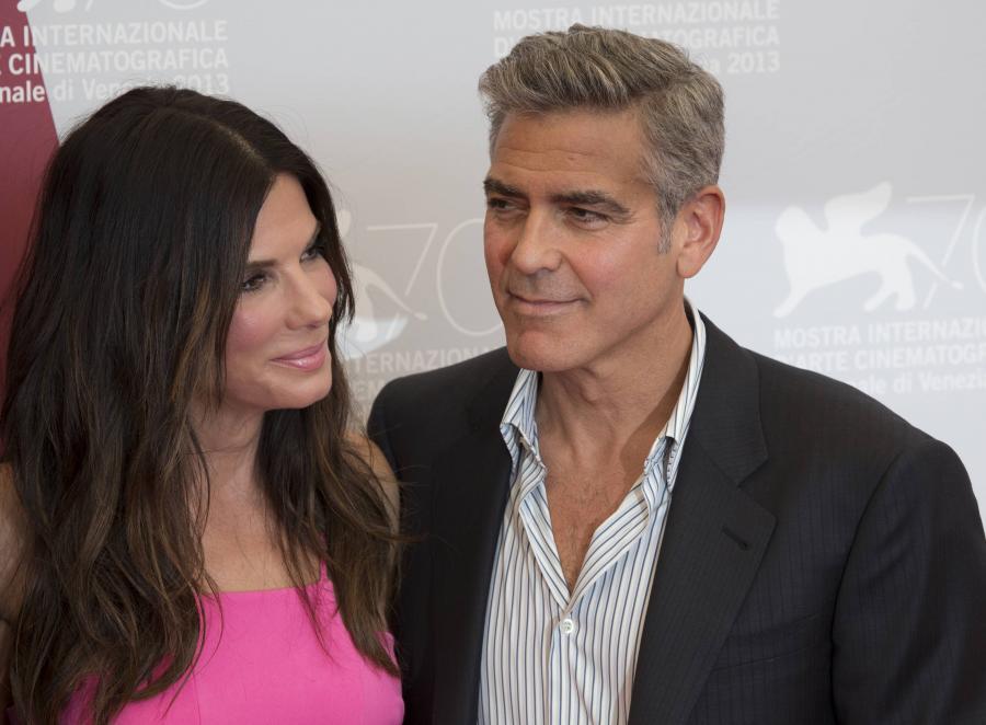 George Clooney i Sandra Bullock w Wenecji