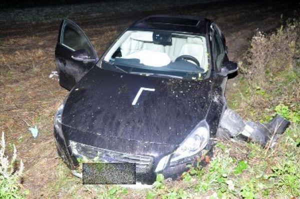 Volvo po wypadku