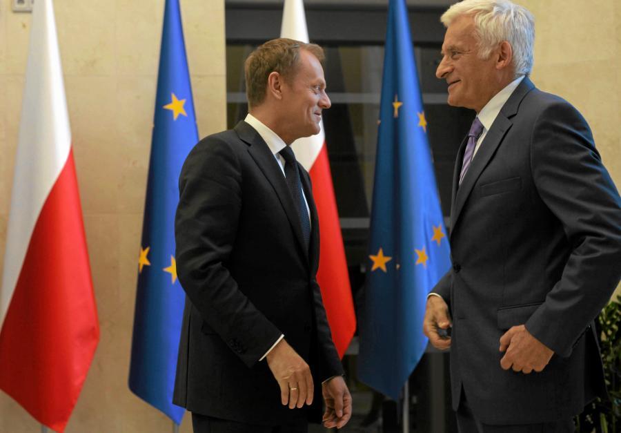 Donald Tusk i Jerzy Buzek
