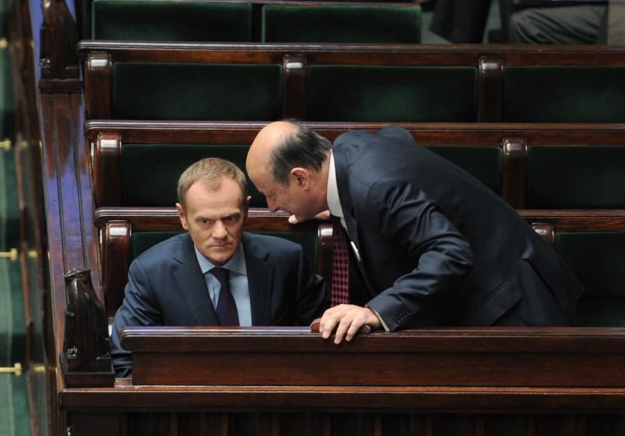 Premier Donald Tusk i Jacek Rostowski