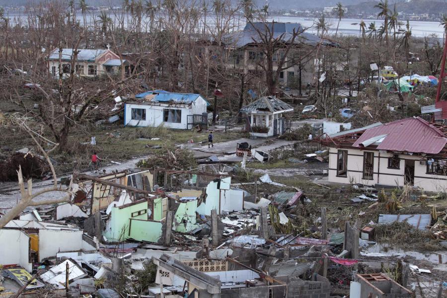 Zniszczenia na Filipinach