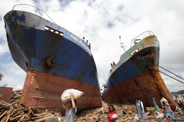 Szkody wyrządzone przez tajfun a Filipinach