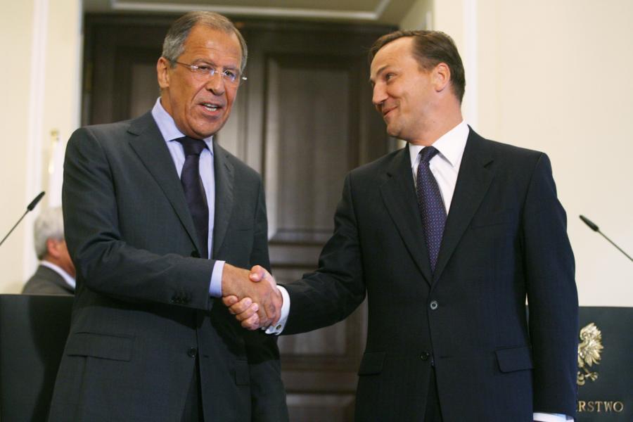 Spotkanie szefów dyplomacji - Siergiej Ławrow i Radosław Sikorski