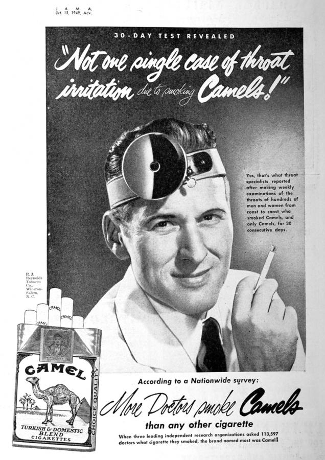 "Papierosy ""Camel"", rok 1949"