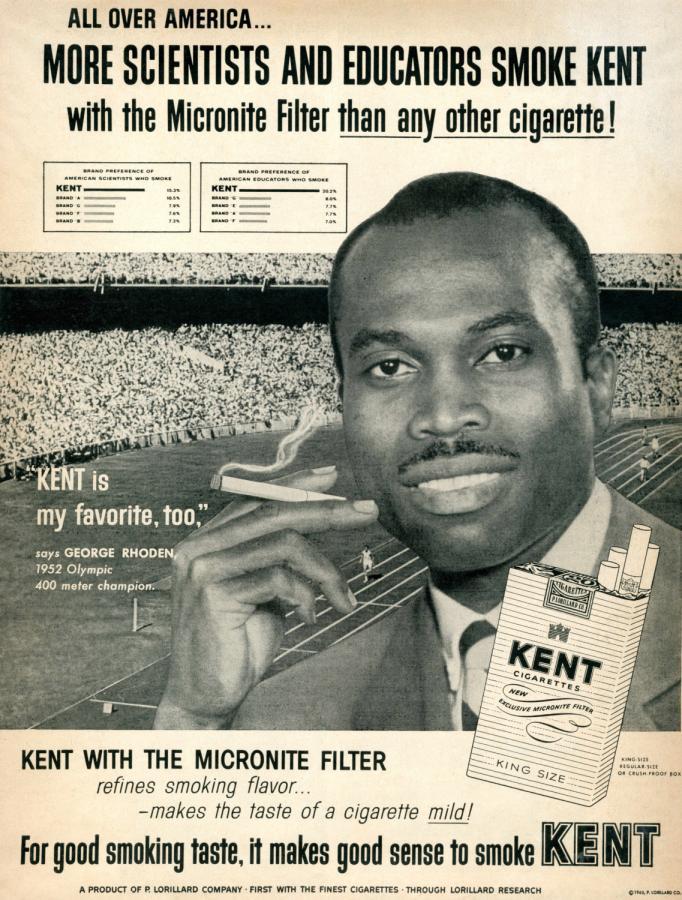 "Papierosy ""Kent"", rok 1960"