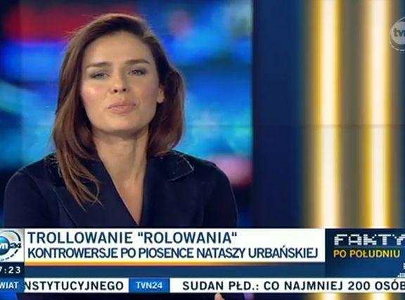 Natasza Urbańska w TVN24