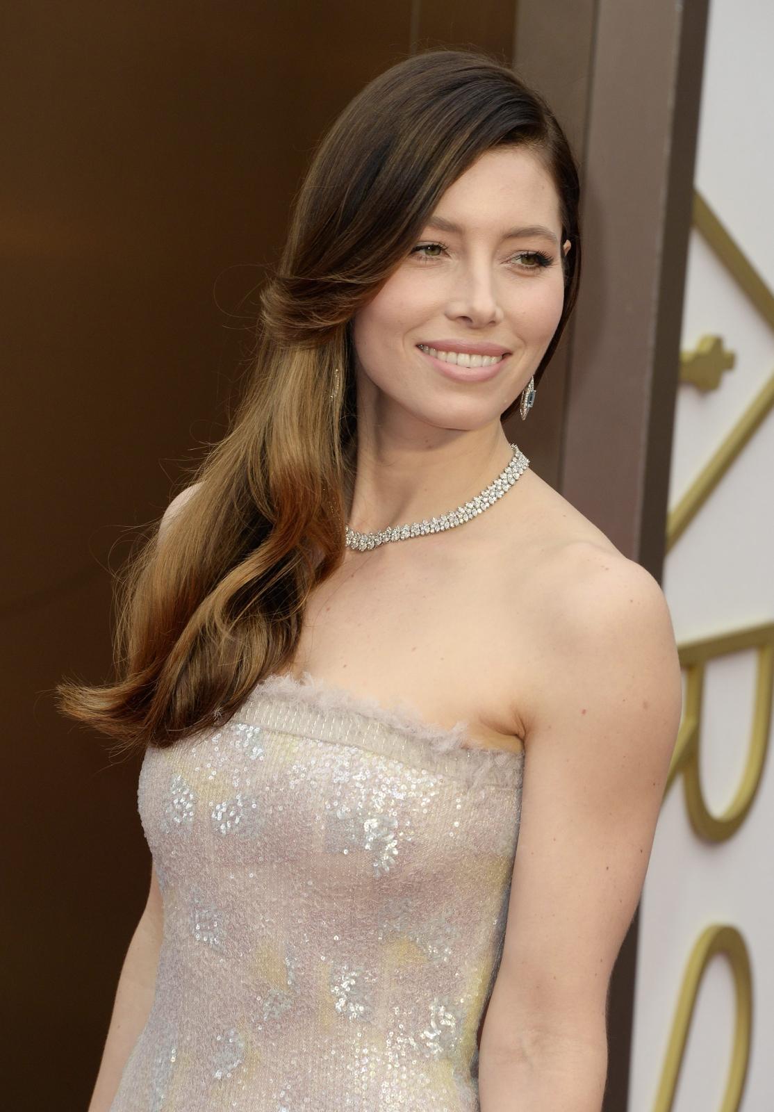 Jessica Biel na gali Oscarów 2014