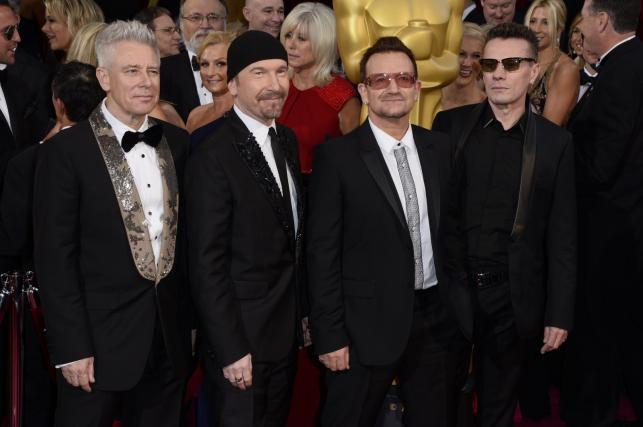 U2 na gali Oscarów 2014