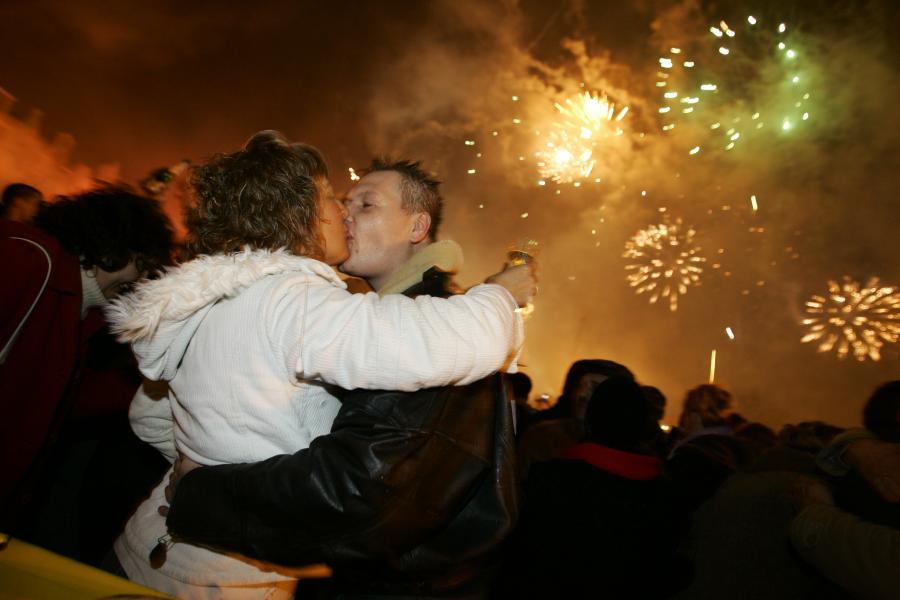 Gdańsk powitał Nowy Rok na Targu Węglowym