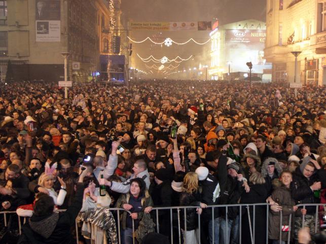 Uliczna impreza w Łodzi