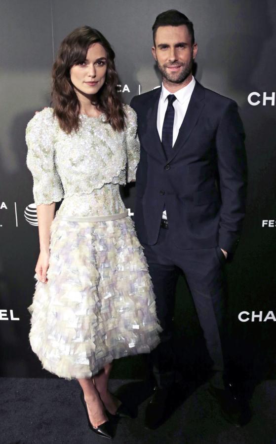 """Keira Knightley i Adam Levine na premierze """"Zacznijmy od nowa"""" w Nowym Jorku"""