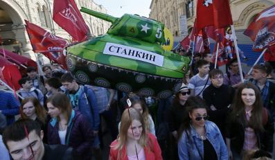 Manifestacja na Placu Czerwonym w Moskwie z okazji 1 maja