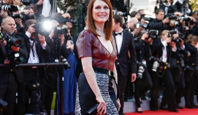 """Julianne Moore na premierze filmu """"Mr Turner"""" w Cannes"""