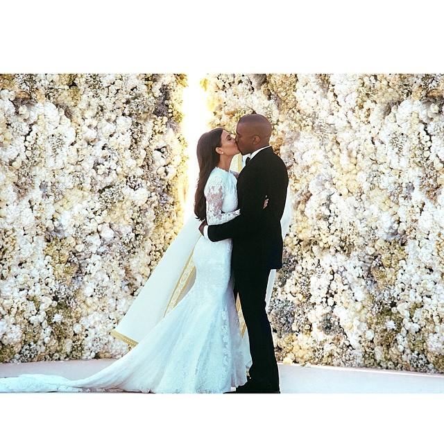 Kanye West i Kim Kardashian na ślubnym kobiercu