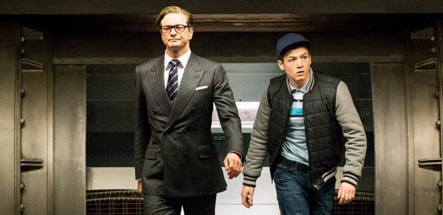 """Colin Firth i Taron Egerton w filmie """"Kingsman: Tajne służby"""""""