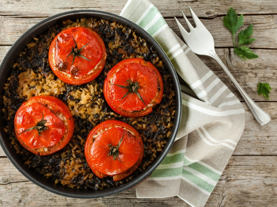 Pomidory faszerowane makaronem