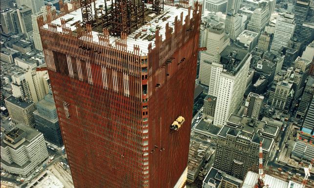 Tak rosły dwie bliźniacze wieże. ZDJĘCIA z budowy World Trade Center