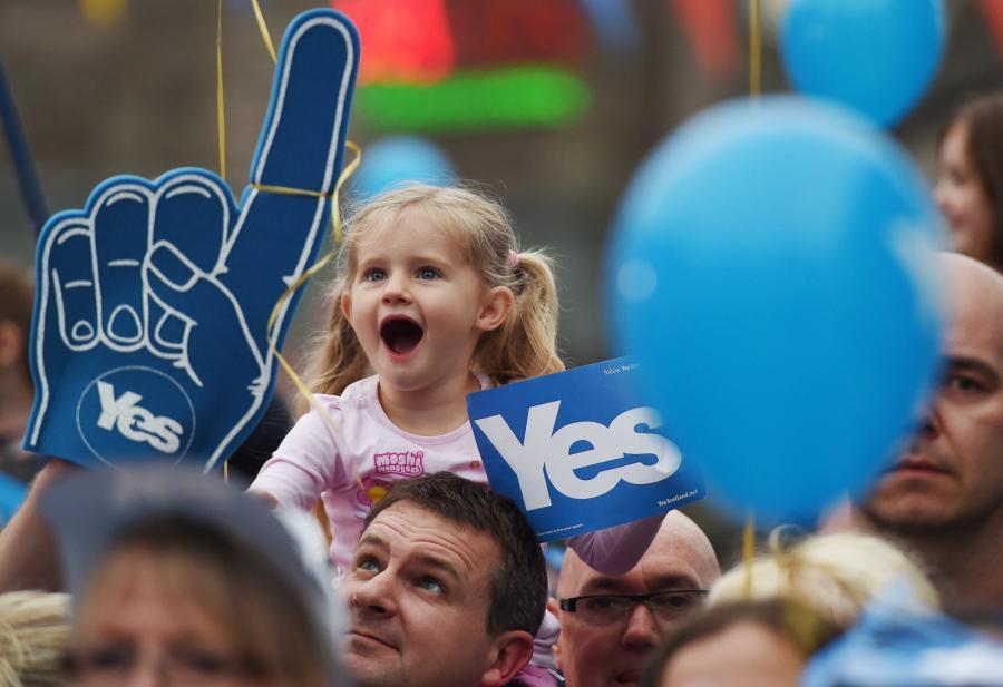 Zwolennicy niepodległości Szkocji