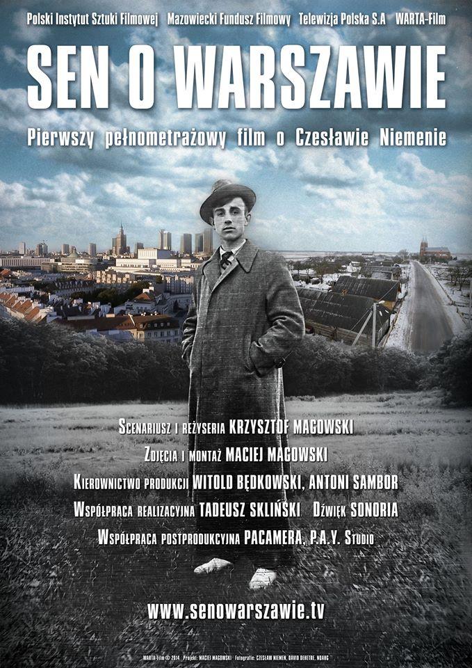 """Plakat zapowiadający """"Sen o Warszawie"""""""