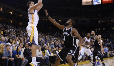 Klay Thompson (Golden State Warriors ) i Alan Anderson (Brooklyn Nets)