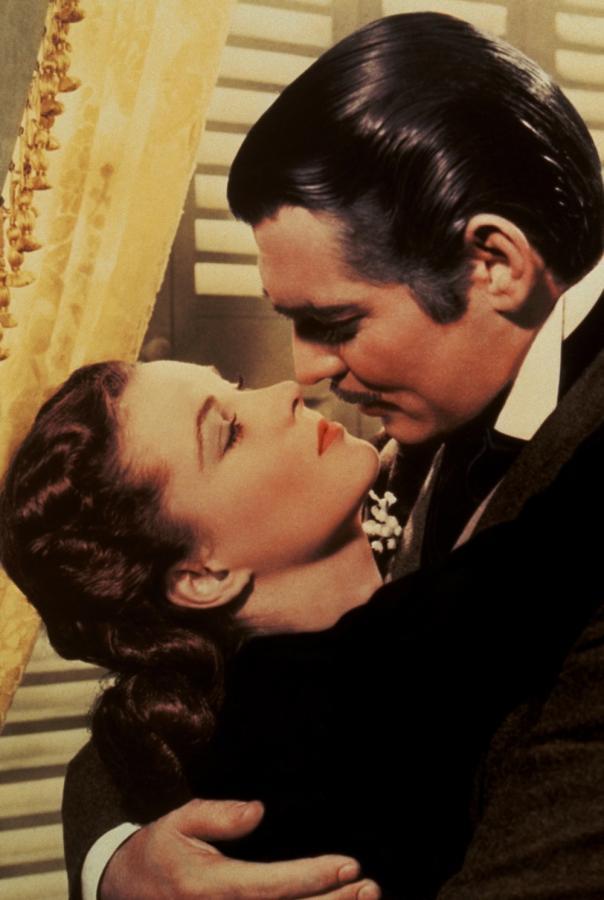 """Vivien Leigh i Clark Gable w filmie """"Przeminęło z wiatrem"""""""